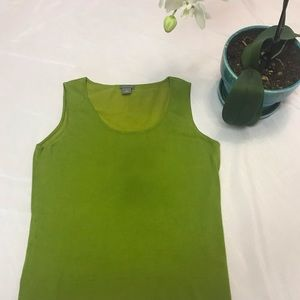 Ann Taylor Chartreuse knitted tank top